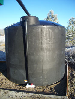 Overflow and Access Valving on 2500 Gallon Tank